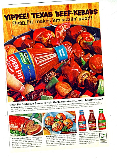 Open Pit barbeque sauce ad 1965 (Image1)