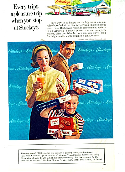 Stuckey's Pecan Shoppes Ad 1965