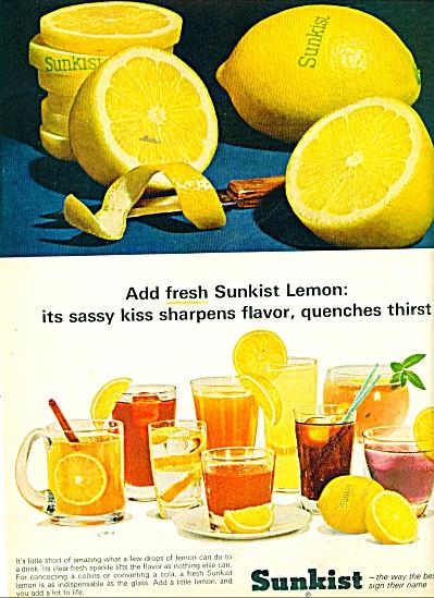 Sunkist lemons ad 1965 (Image1)