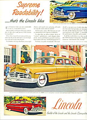 1949 -  Lincoln cosmopolitan ad THREE MODELS (Image1)