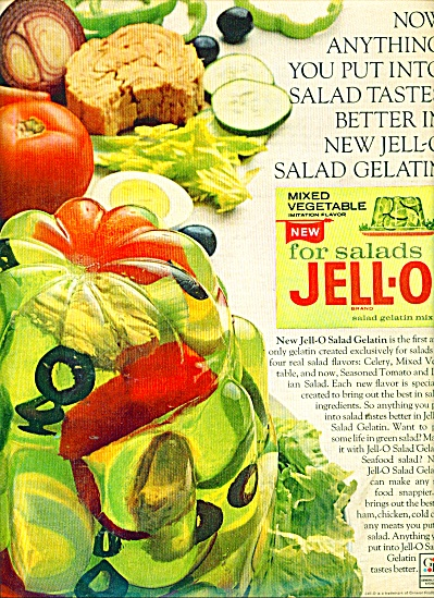 Jello salad gelatin mix ad 1965 (Image1)
