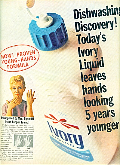 Ivory dishwashing liquid ad 1965 (Image1)