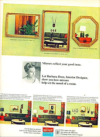 High Fidelity Mirror ad 1965 (Image1)