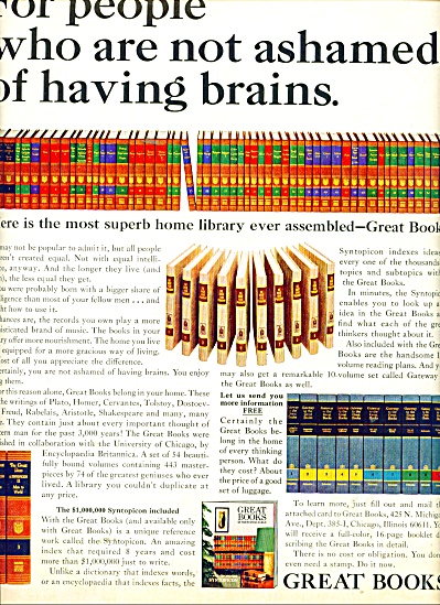 Great Books Ad 1965