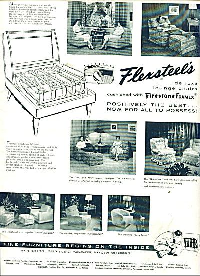 Flexsteels chairs - Firestone Foamex ad 1955 (Image1)