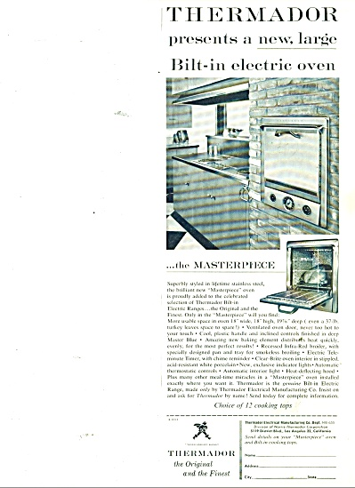 Thermador bilt in electric oven ad 1955 (Image1)