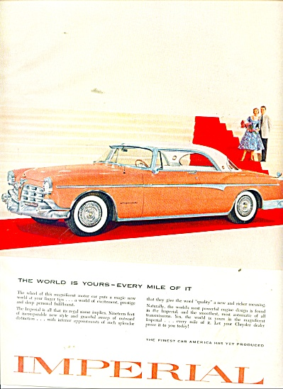 Imperial automobile by Chrysler ad 1955 (Image1)