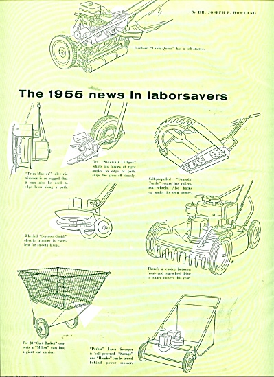 The 1955 news in lawn care laborsavers ads (Image1)