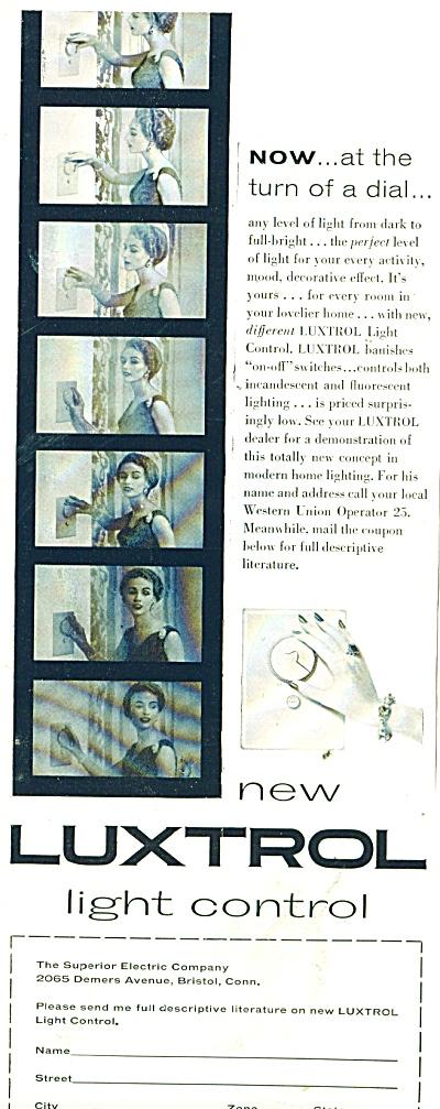 Luxtrol light control ad 1955 (Image1)