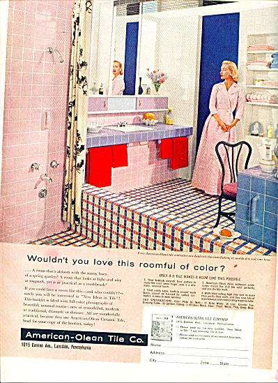 American-Olean Tile Co. ad 1955 (Image1)