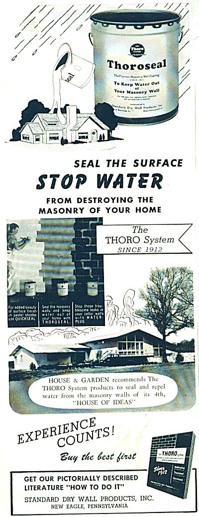 Thoroseal Masonry wall protector ad 1955 (Image1)