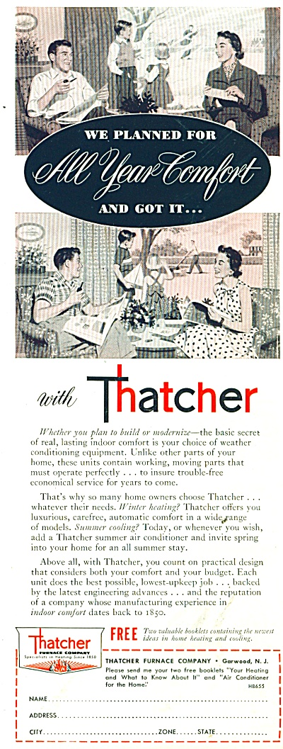 Thatcher Furnace Company ad 1955 (Image1)