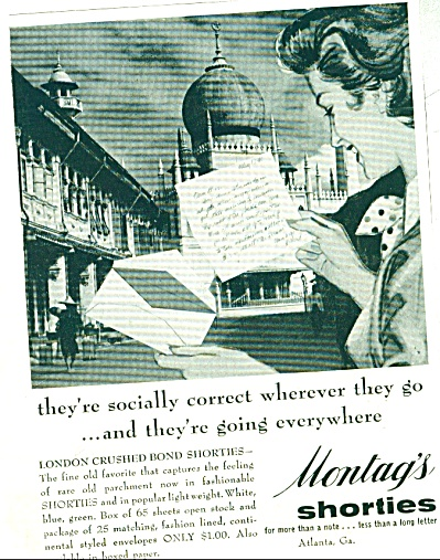 Montag's shorties ad  1955 (Image1)