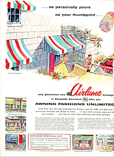 Airlume Awnings ad 1955 (Image1)