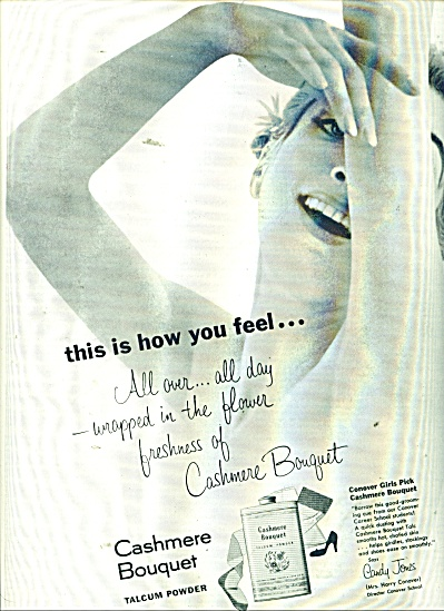 1956 Cashmere Bouquet AD Woman in Powder (Image1)