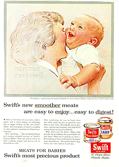1956 Swift Baby Food AD NORMAN ROCKWELL ART (Image1)