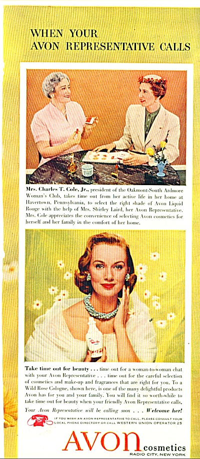 Avon Cosmetics ads 1956 (Image1)