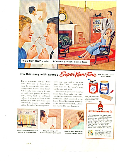 Super Kem Tone and Kem glo paints ad 1956 (Image1)