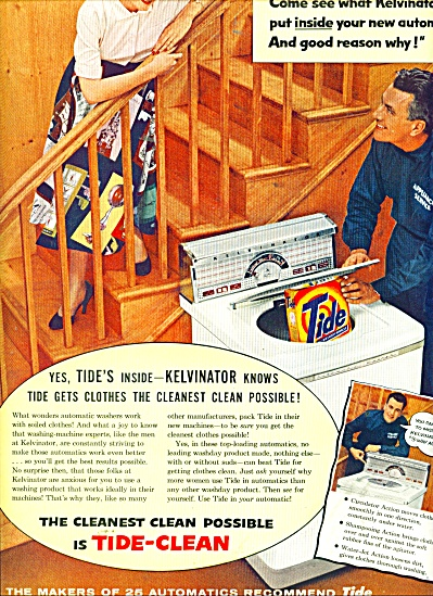 Tide automatic machine soap ad 1956 (Image1)