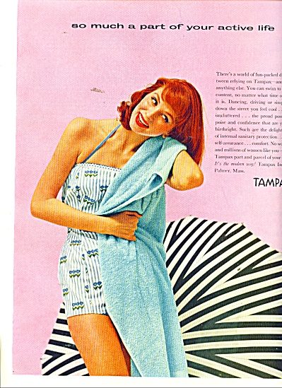 Tampax Ad 1956 Suzy Parker