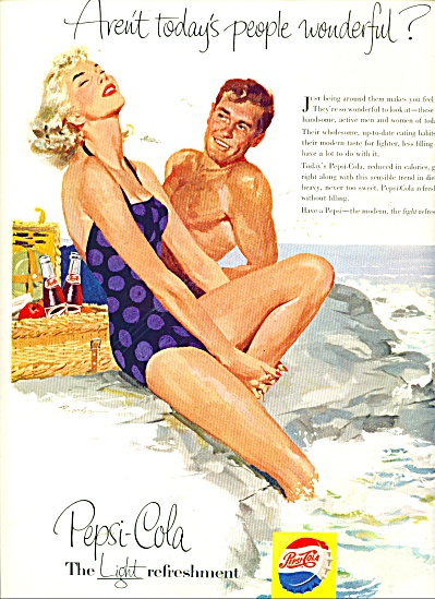 Pepsi Cola ad 1956 JOSEPH BOWLER ART (Image1)