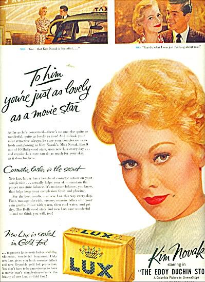 Lux Soap - KIM NOVAK  - ad 1956 (Image1)