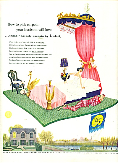 Lees Heavenly Carpets Ad1956