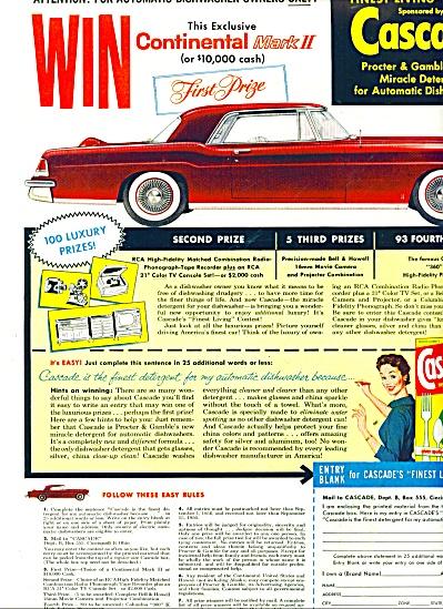 Cascade soap - Continental Mark II Prize ad (Image1)