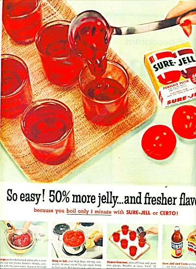 Sure-Jell and Certo  ads 1956 (Image1)