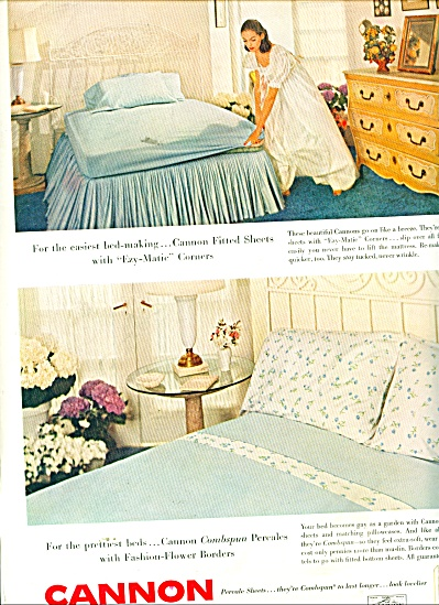 Cannon percale sheets ad 1956 (Image1)