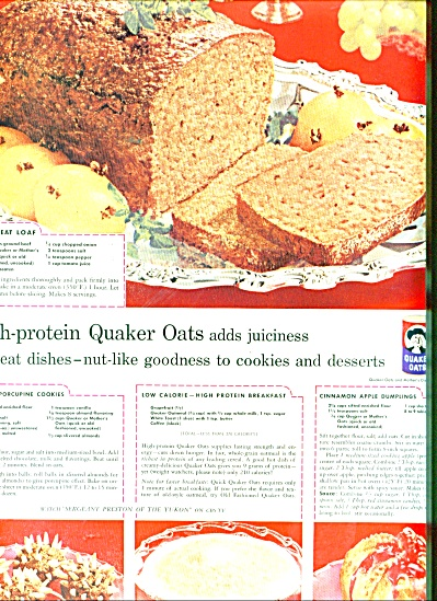 Quaker Oats and Mothers Oats ad 1957 (Image1)