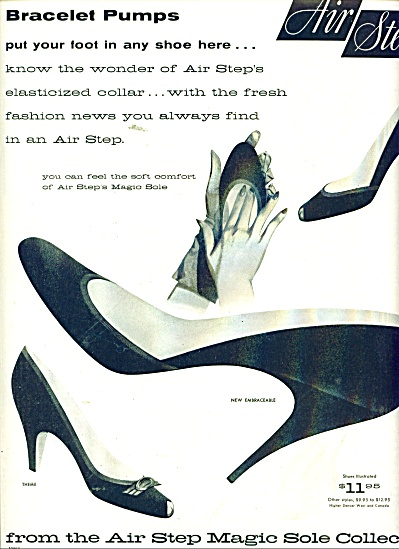 Air Step Magic Sole For Shoes Ad 1956