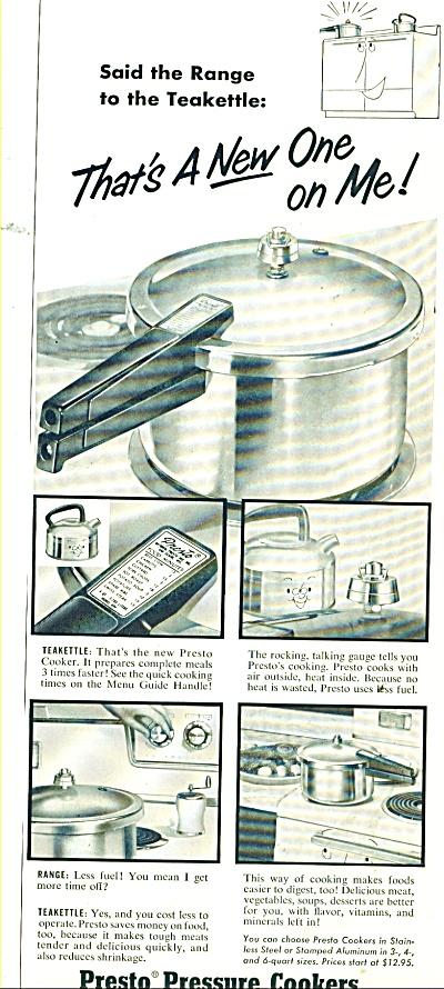 Presto Pressure cookers ad 1956 (Image1)