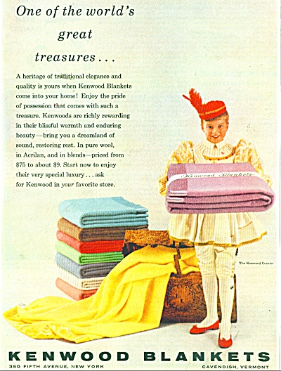 1956 Kenwood Blanket AD Courier Girl (Image1)
