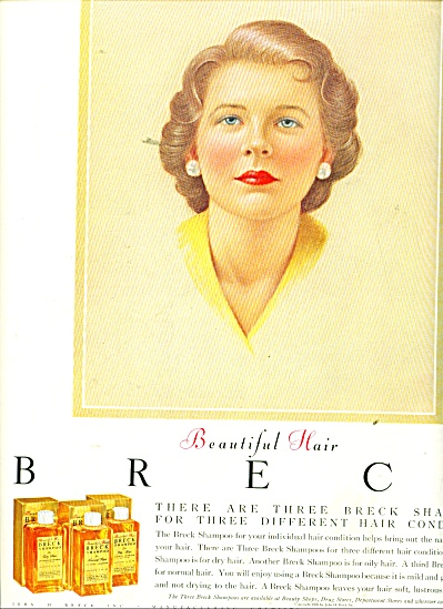 Breck hair shampoos ad 1956 (Image1)