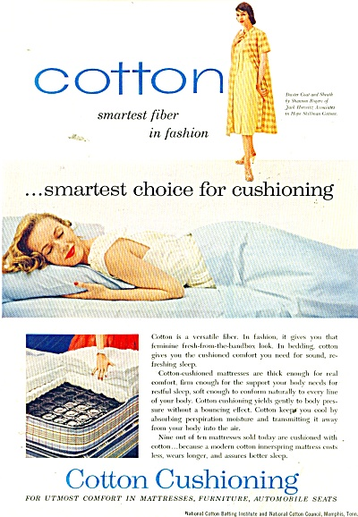 Cotton Cushioning ad 1956 (Image1)