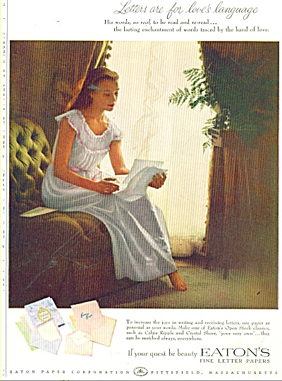 Eaton's fine letter papers ad 1956 (Image1)