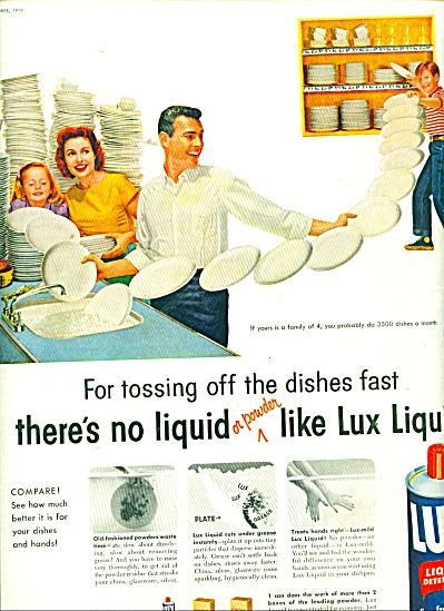 Lux liquid detergent ad 1956 (Image1)