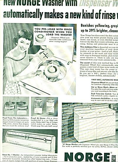 Norge Washing machien ad 1956 (Image1)