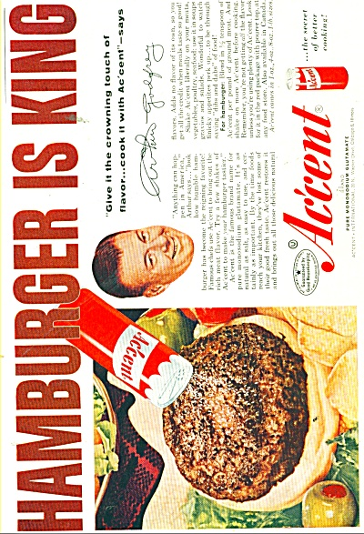 Accent for hamburger flavor - ARTHUR GODFREY (Image1)