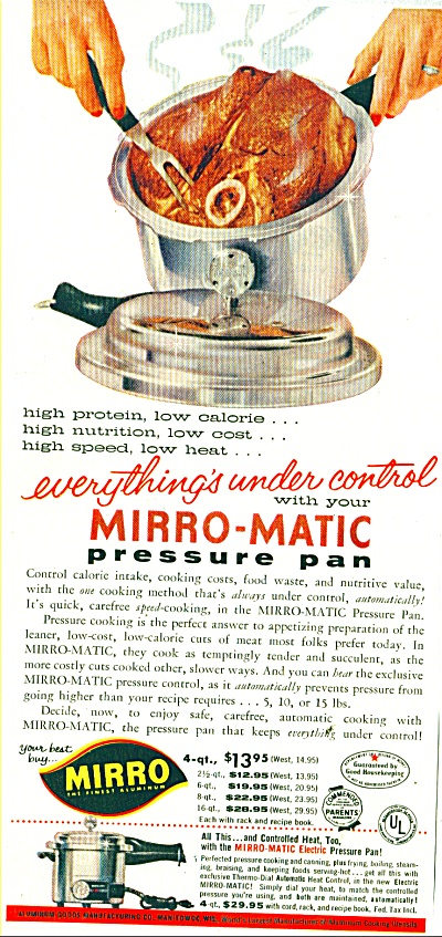 Mirro-Matic pressure pan ad 1956 (Image1)