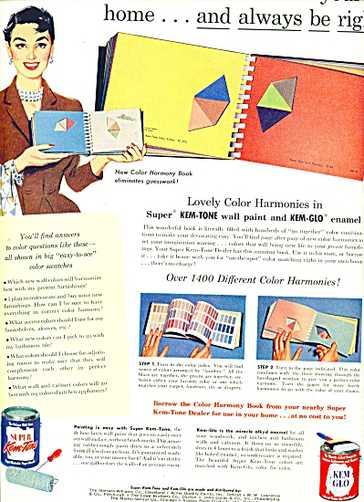 Kem Glo Wall paints and enamel ad 1956 (Image1)