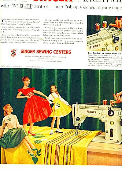 1956 Singer AD Dress Skirt Patterns Designs (Image1)