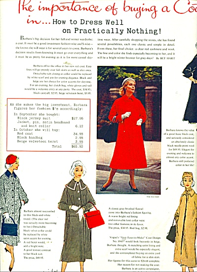 1956 BUYING a COAT article VOGUE Barbara ART (Image1)