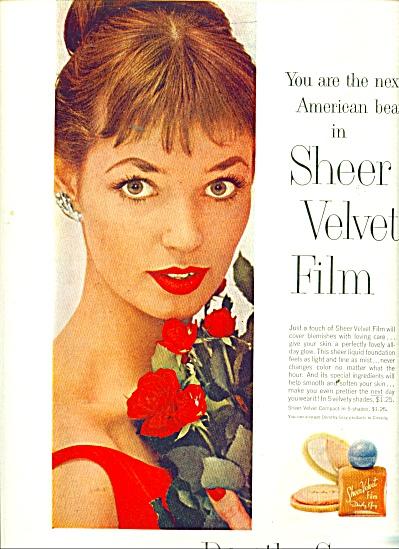 1956 Dorothy Gray Silver Velvet Film ad (Image1)