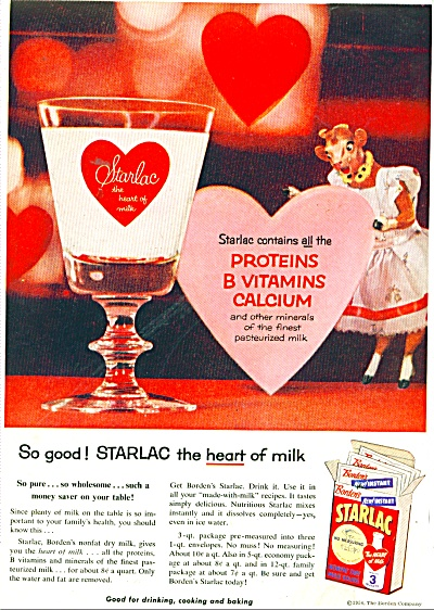 Starlac nonfat dry milk solids ad 1956 (Image1)