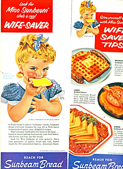 Sunbeam Bread ads 1956 ELLEN SEGNER ART (Image1)