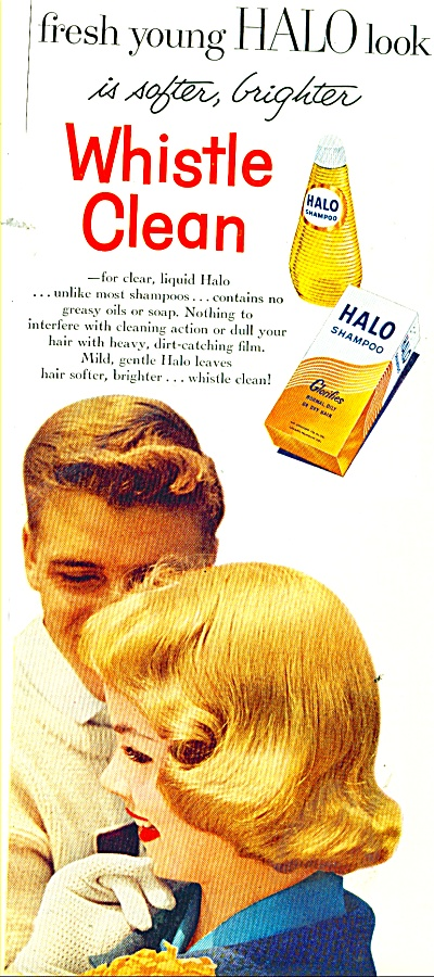 Halo whistle clean shampoo ad 1956 (Image1)