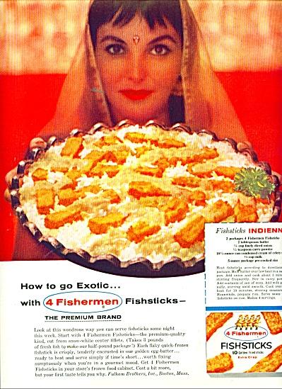 4 Fishermen fish sticks ad 1956 (Image1)