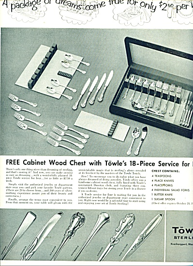 Towle Sterling Ad 1956